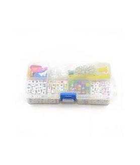 Комплект мъниста и инструменти за бижута в кутия 14 x 7.2 x 3 cm