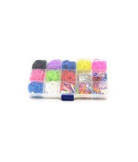 Комплект ластички асорте 18 mm за плетене на гривни
