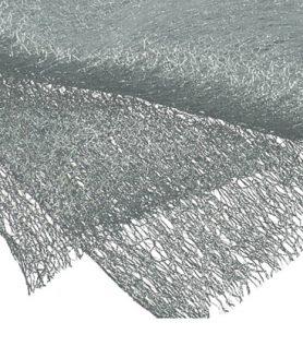 Мрежа за декорация със сребърна нишка 80 x 170 cm