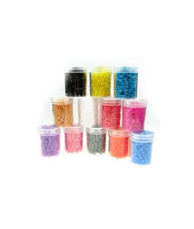 Пластмасови мъниста асорте 5 x 5 mm