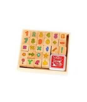 Комплект дървени печати 14 x 14 mm