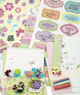 Скрапбук картички за декорация 17 x 11.5 cm