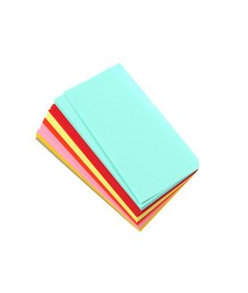 Цветни листи за декорация и оригами 9 x 4.5 cm