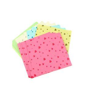 Цветни листи за декорация и оригами 9.6 x 9.6 cm