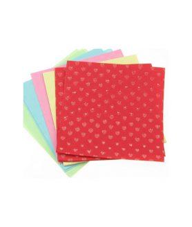 Цветни листи за декорация и оригами 6 x 6 cm