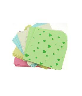 Цветни листи за декорация и оригами 6.5 x 6.5 cm