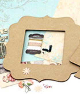 Комплект рамка за снимки с декорация 22.6 x 22.6 cm