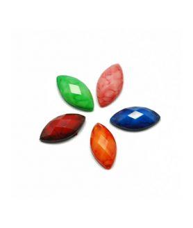Декорация акрилен камък за лепене 10 x 5 x 2 mm