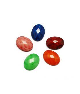 Декорация акрилен камък за лепене 8 x 6 x 2 mm