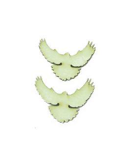 Eлементи за декорация  от МДФ гълъб 25 x 45 x 1 mm