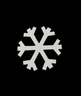 Eлементи за декорация от МДФ снежинка 71 x 1 mm