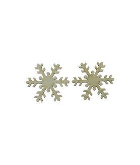 Eлементи за декорация  от МДФ снежинка  50 x 1 mm