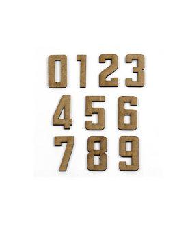 Eлементи за декорация  от МДФ цифри 40 x 20 x 2 mm