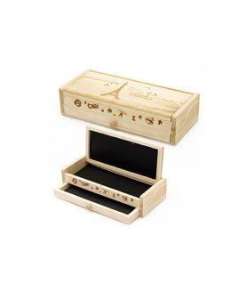 Дървен моливник 205 x 90 x 55 mm