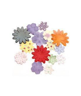 Релефни цветя за декорация от хартия 25-50 mm