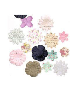 Релефни цветя за декорация от хартия 25-55 mm