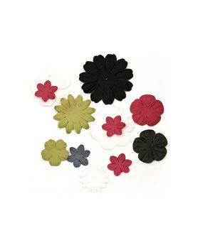 Релефни цветя за декорация от хартия 25-60 mm