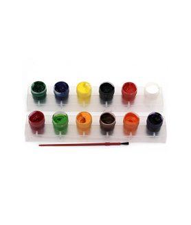 Комплект водни бои 12 цвята