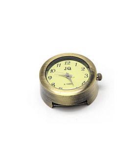Metal clock  28.5 x 26 x 13  mm