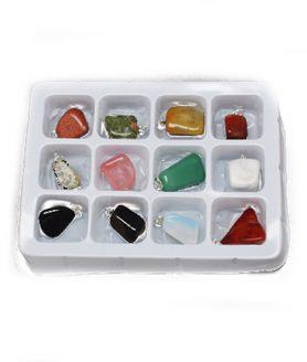 Висулка естествени камъни 21 x 11 x 10 mm Асорте