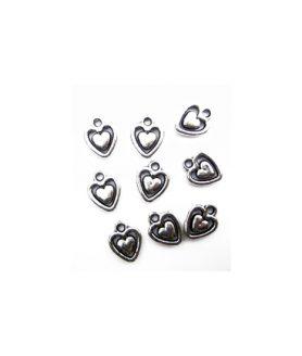 Висулка сърце 2 в 1- 12 mm