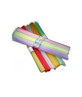 Пластмасова сгъваема сламка за оригами 40 mm - АСОРТЕ