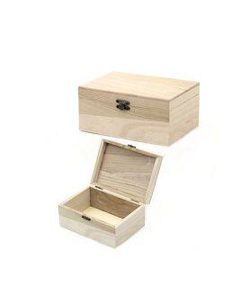 Дървена кутия за декорация 175 x 120 x 80 mm