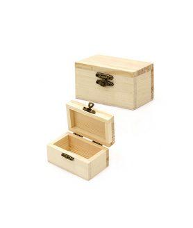 Дървена кутия за декорация 90 х 55 х 45 mm