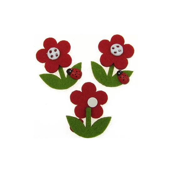Филц за декорация цвете с лепка 35 x 45 mm