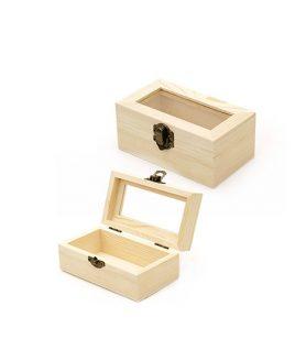 Дървена кутия 120 x 80 x 50 mm