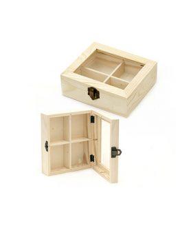 Дървена кутия 150 x 130 x 50 mm