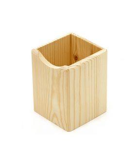 Дървен моливник 80 x 80 x 100 mm