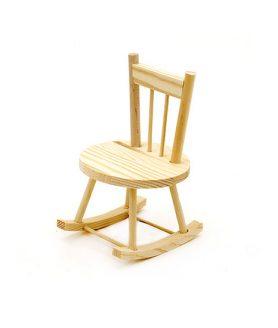 Дървен стол за декорация 90 x 95 x 140 mm