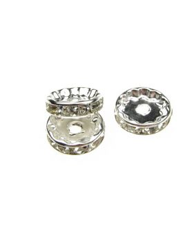 Метална шайба с кристали за декорация 12 mm