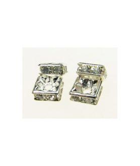 Метален разделител с кристали 6 x 6 x 3 mm