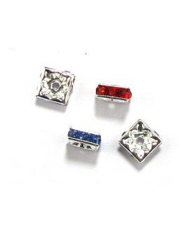Метален разделител с кристали 8 x 8 x 4 mm