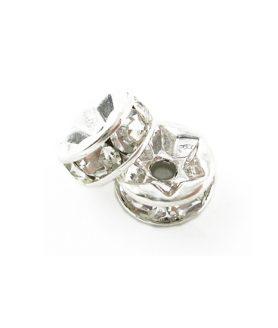 Метален разделител с кристали 8 x 3.5 mm
