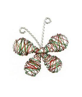 Пеперуда за декорация от тел 65 mm