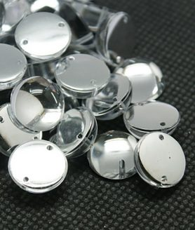 Камъни за пришиване с метална основа 6 x 3.5 mm
