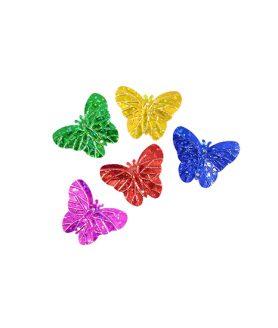 Пайети пеперуда за декорация 30 х 23 mm Асорте