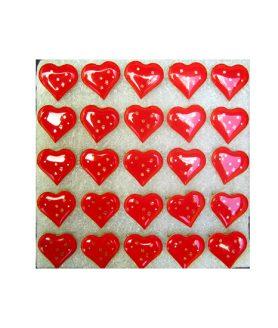 Светещи сърца със секретна игла - червени