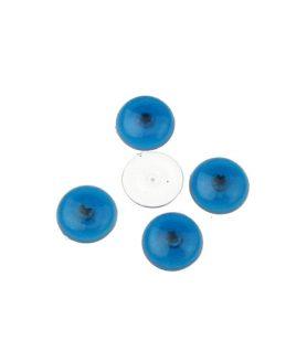 Синьо око полусфера за лепене 12 mm