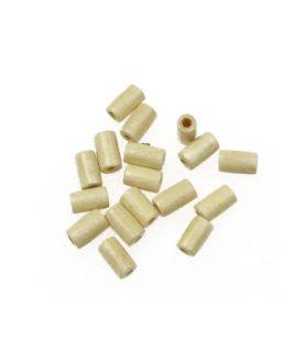 Дървени мъниста тип цилиндър 7 x 4 mm