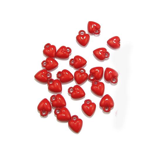 Пластмасови мъниста сърце 11 x 5 mm