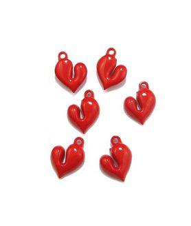 Пластмасови мъниста сърце 25 x 22 x 9 mm