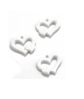 Пластмасови мъниста сърце 35 x 26 x 7 mm