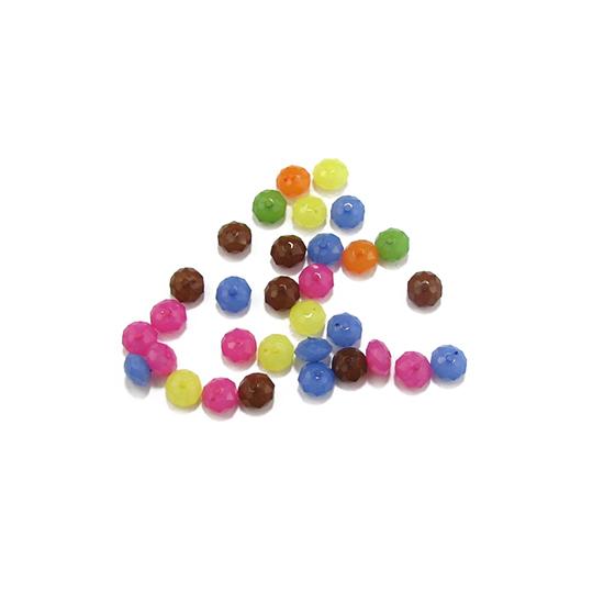 Пластмасови мъниста абакус 8 x 5 mm АСОРТЕ