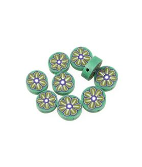 Мъниста тип паричка от моделин 10 mm