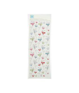 Стикери за декорация от плат - пеперуди