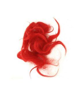 Натурални вълнени снопчета в червен цвят